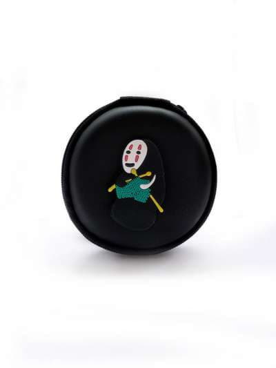 Молодежный чехол для наушников для наушников каонаси со спицами круглый черный. Фото товара, вид 1_product-ru