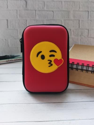 Стильный чехол для наушников для наушников смайл красный. Фото товара, вид 1_product-ru