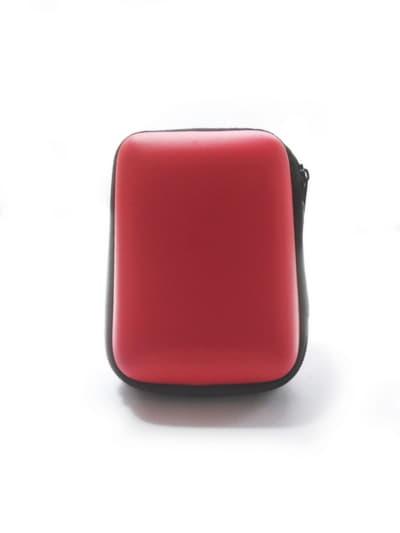 Стильный чехол для наушников для наушников смайл красный. Фото товара, вид 2