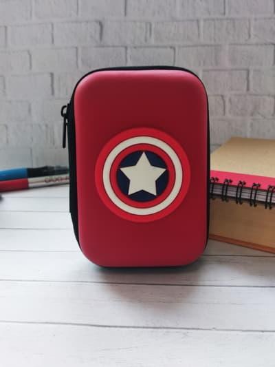 Молодежный чехол для наушников для наушников капитан америка красный. Фото товара, вид 1_product-ru