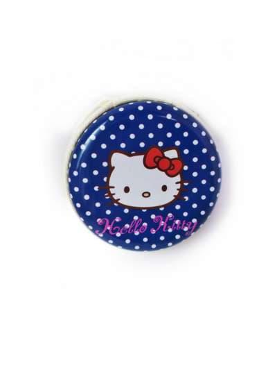 Модный чехол для наушников котенок синий/белый горох. Фото товара, вид 1
