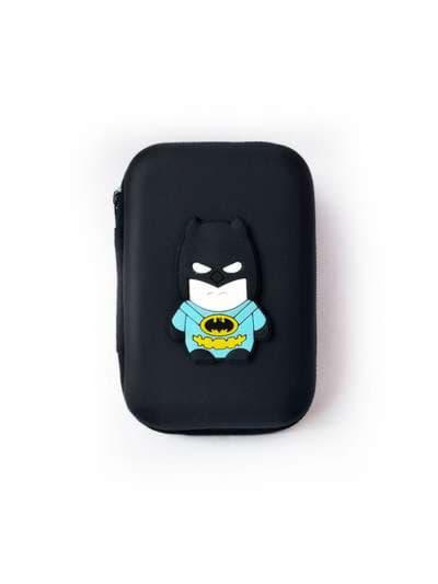 Стильный чехол для наушников человек-летучая мышь черный. Фото товара, вид 1