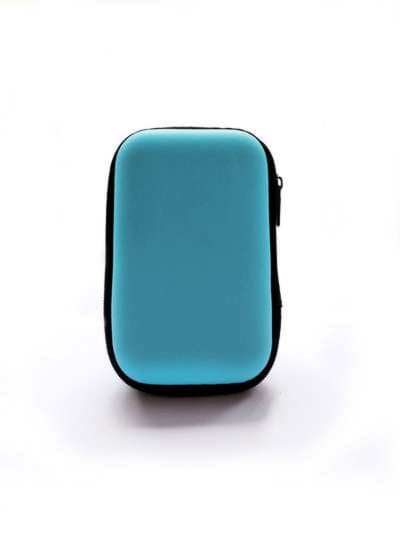 Брендовый чехол для наушников супер-герой светло-синий. Фото товара, вид 2