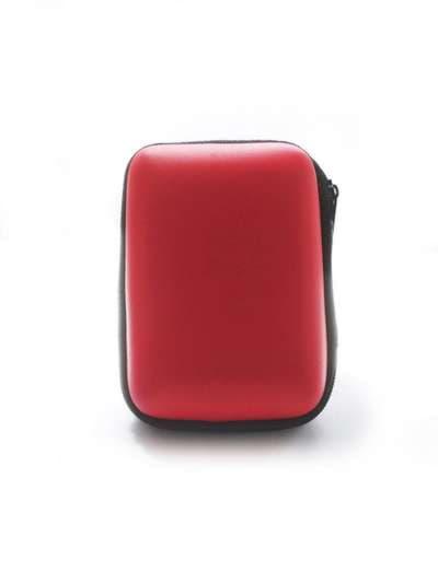 Стильный чехол для наушников медвежонок красный. Фото товара, вид 2