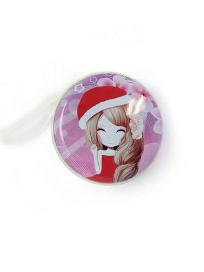 Брендовый чехол для наушников с девочкой аниме розовый. Фото товара, вид 1