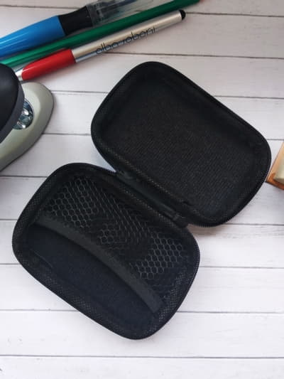 Модний чохол для навушників тоні чоппер блакитний. Фото товару, вид 2