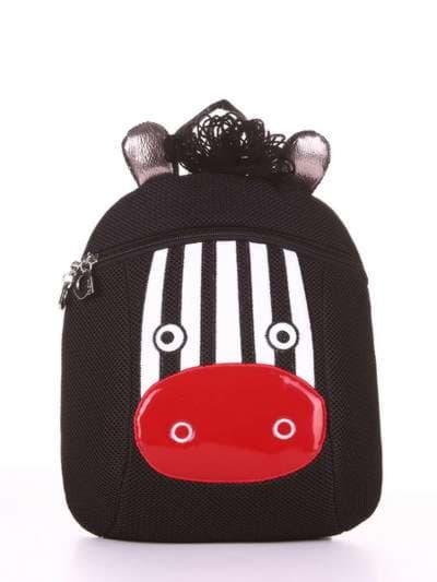 Модный рюкзак, модель 1901 черный. Фото товара, вид сбоку.