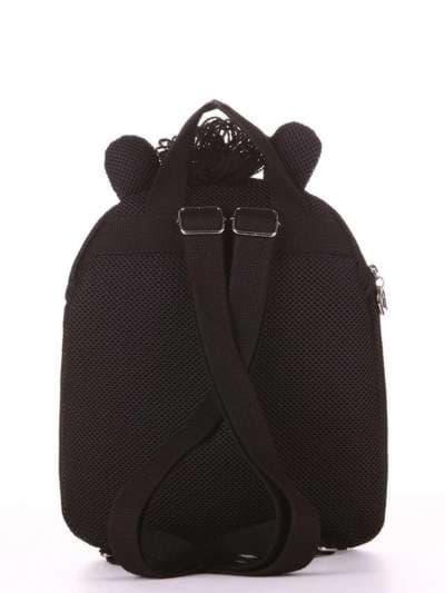Модный рюкзак, модель 1901 черный. Фото товара, вид дополнительный.