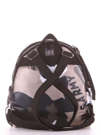 Стильный детский рюкзак, модель 1956 милитари/черный. Фото товара, вид дополнительный.