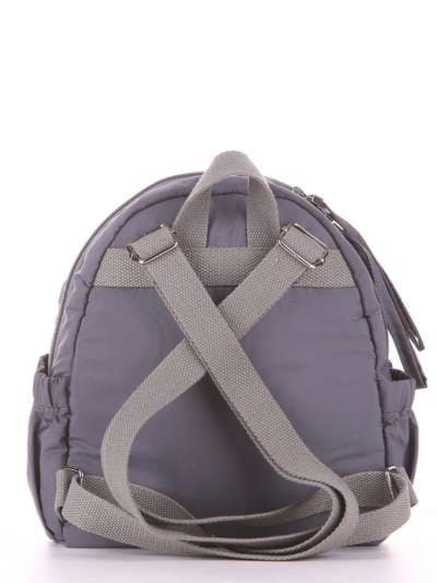 Стильный детский рюкзак, модель 1958 серый. Фото товара, вид дополнительный.