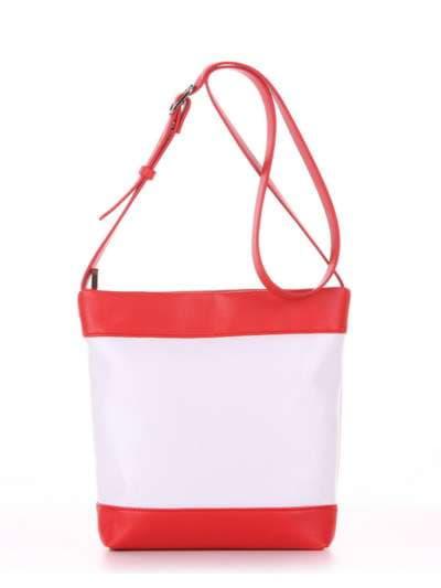 Стильная детская сумочка, модель 1941 белый-красный. Фото товара, вид дополнительный.