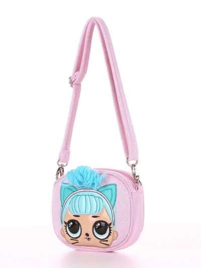 Молодежная сумочка на пояс, модель 1911 розовый. Фото товара, вид сзади.