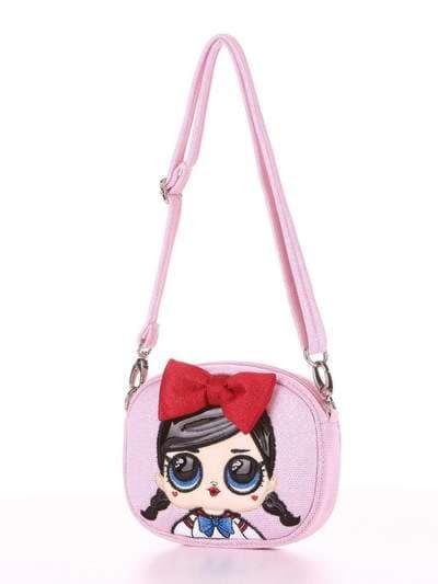 Молодежная сумочка на пояс, модель 1913 розовый. Фото товара, вид сзади.