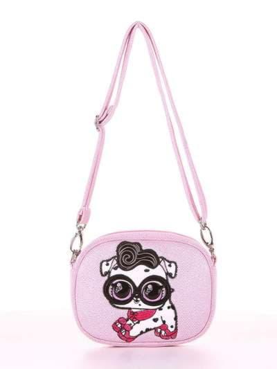 Стильная сумочка на пояс, модель 1914 розовый. Фото товара, вид сбоку.