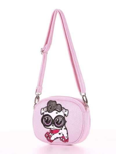 Стильная сумочка на пояс, модель 1914 розовый. Фото товара, вид сзади.