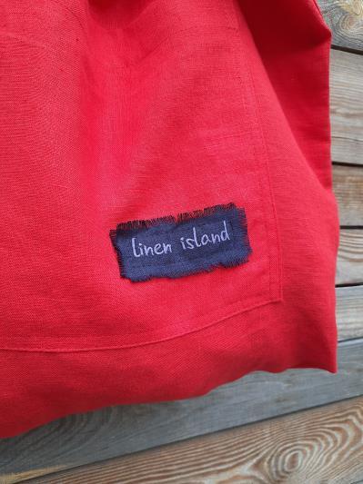 Фото товара: лляна сумка червона. Вид 2.