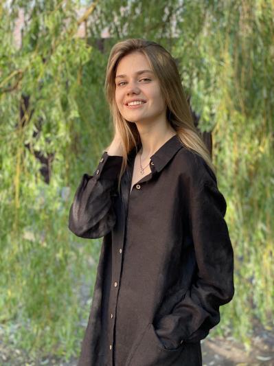 Фото товара: лляна сукня - сорочка чорна. Вид 4.