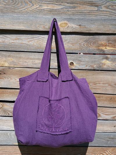 Фото товара: лляна сумка фіолетова. Вид 1.