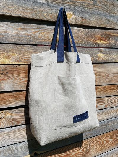 linen island. Лляна сумка натуральний колір екрю. Вид 2.