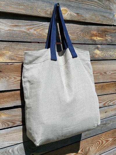linen island. Лляна сумка натуральний колір екрю. Вид 3.