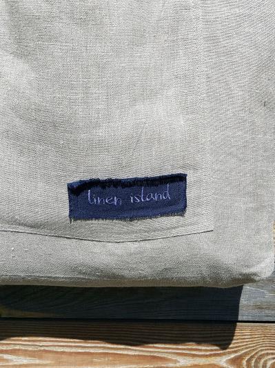 linen island. Лляна сумка натуральний колір екрю. Вид 4.