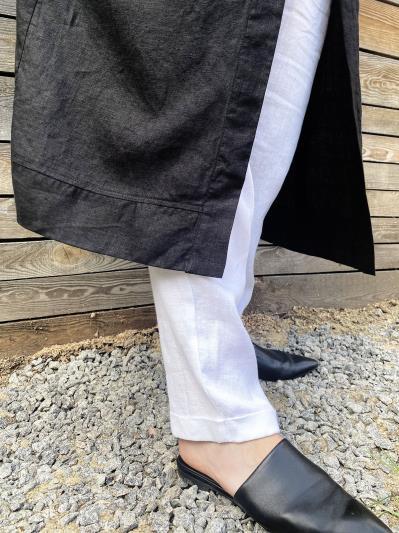 Фото товара: лляний літній кардиган чорний. Вид 4.