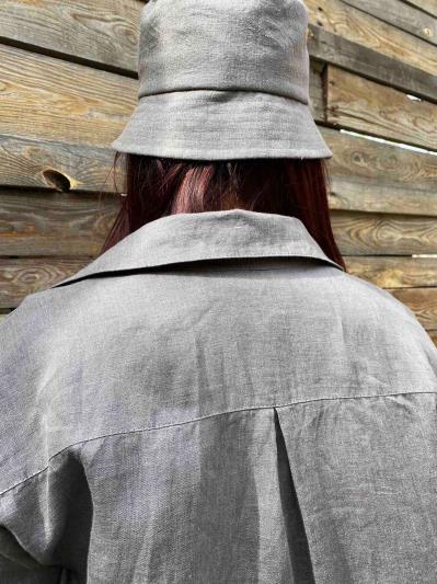 linen island. Лляна сукня - сорочка сіра. Вид 5.