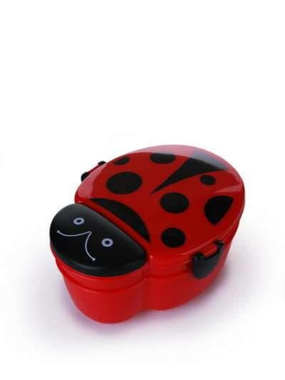 Стильний ланч-бокс божа корівка червоний. Фото товару, вид 1