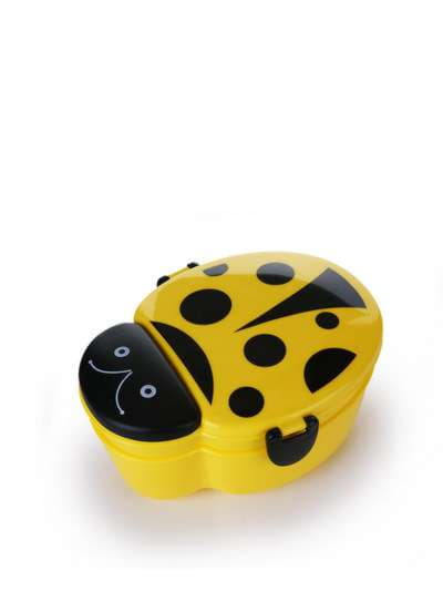Брендовий ланч-бокс божа корівка жовтий. Фото товару, вид 1