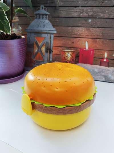 Брендовый ланч-бокс гамбургер желтый. Фото товара, вид 1
