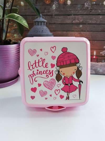 Молодежный ланч-бокс little princess розовый. Фото товара, вид 1