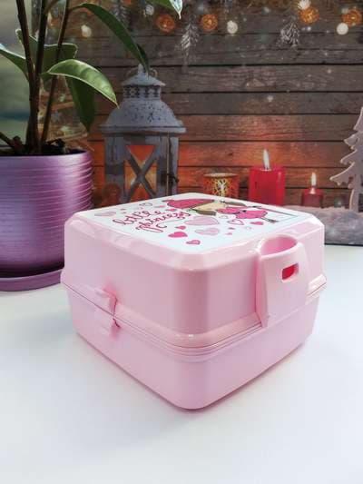 Молодежный ланч-бокс little princess розовый. Фото товара, вид 2