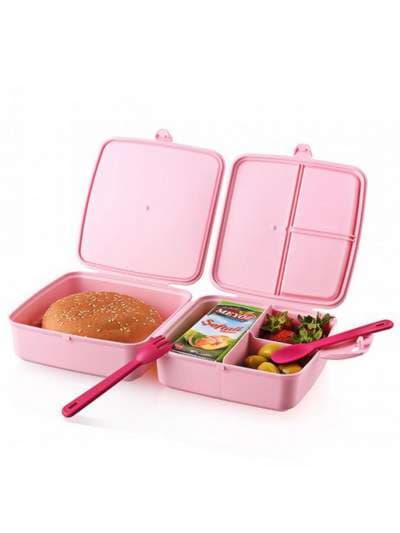 Молодежный ланч-бокс little princess розовый. Фото товара, вид 4