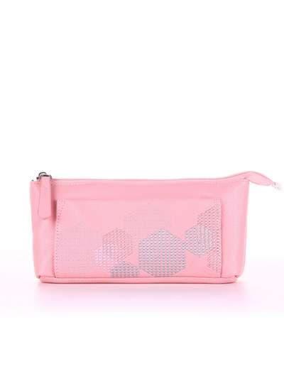 Модная косметичка, модель 505 розовый. Фото товара, вид спереди.