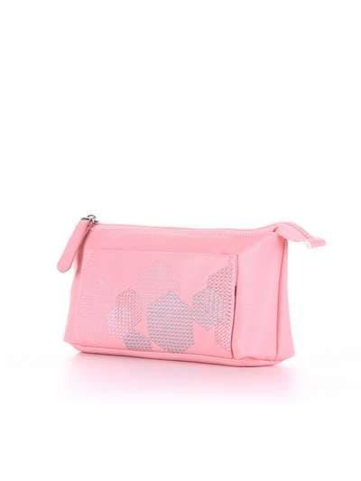 Модная косметичка, модель 505 розовый. Фото товара, вид сбоку.