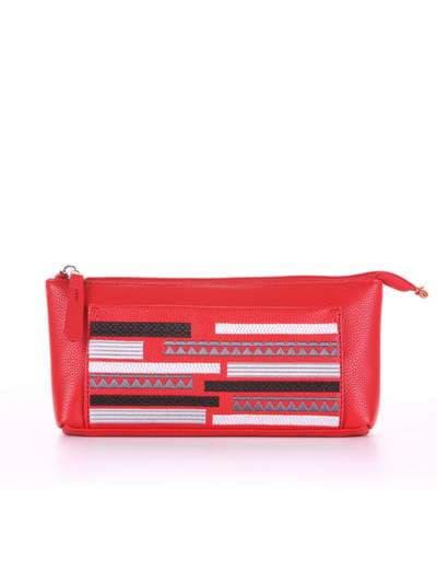 Стильная косметичка, модель 506 красный. Фото товара, вид спереди._product-ru