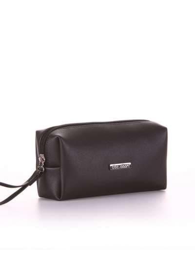 Модная косметичка, модель 561 черный. Фото товара, вид спереди.