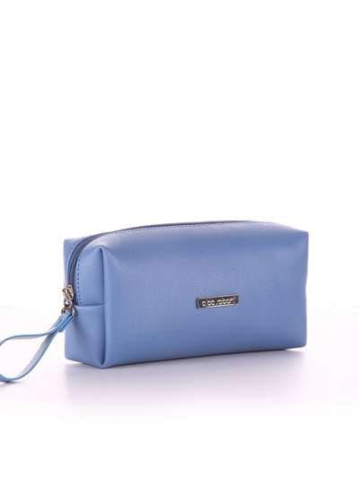 Брендовая косметичка, модель 564 голубая волна. Фото товара, вид спереди._product-ru