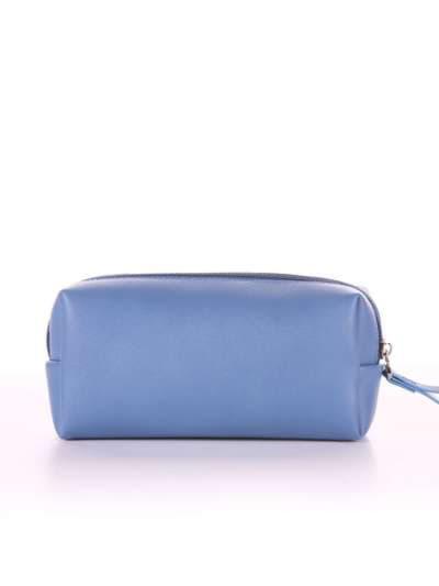 Брендовая косметичка, модель 564 голубая волна. Фото товара, вид сзади.