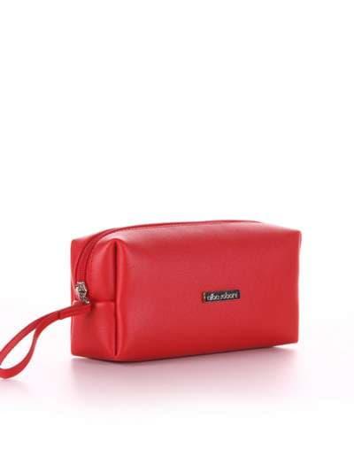 Молодежная косметичка, модель 566 красный. Фото товара, вид спереди.