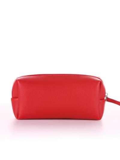 Молодежная косметичка, модель 566 красный. Фото товара, вид сзади.