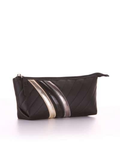Женская косметичка-пенал, модель 541 черный. Фото товара, вид спереди._product-ru