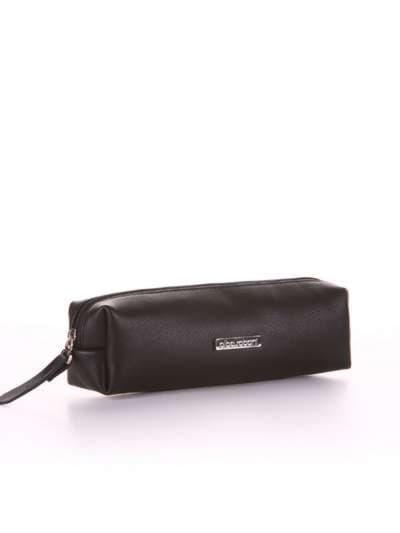 Брендовая косметичка-пенал, модель 551 черный. Фото товара, вид спереди.