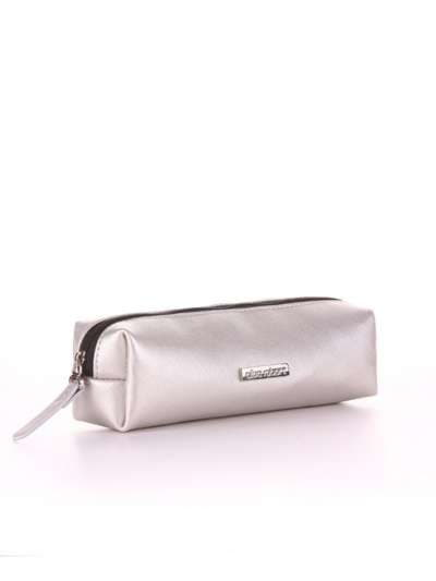Модная косметичка-пенал, модель 554 серебро. Фото товара, вид спереди._product-ru