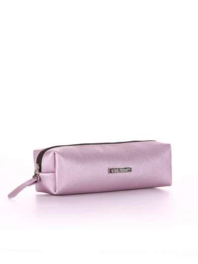 Стильная косметичка-пенал, модель 556 розовый перламутр. Фото товара, вид спереди._product-ru