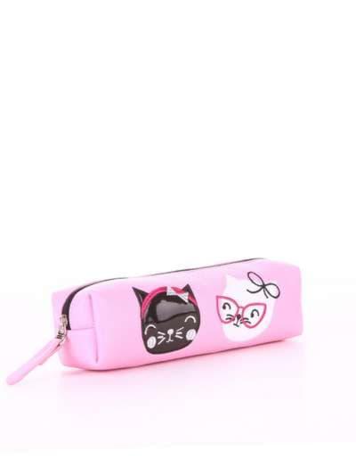 Брендовый пенал, модель 576 розовый. Фото товара, вид сбоку.