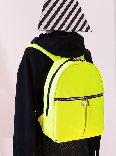 alba soboni. Рюкзак MAN-004-3 жовтий. Вид 2.