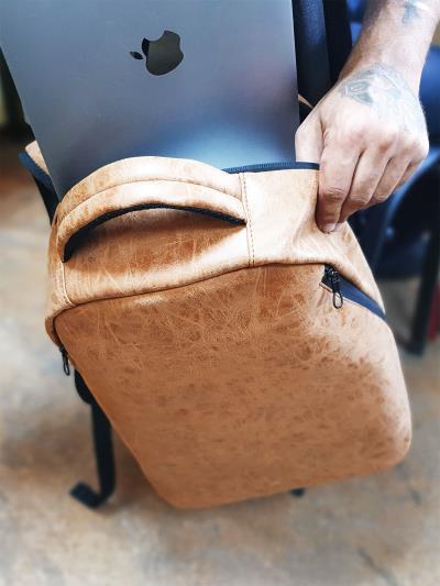 alba soboni. Рюкзак MAN-012-1 св. коричневий. Вид 2.
