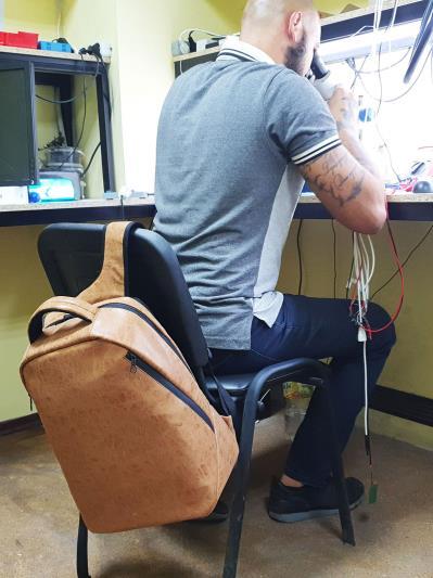 alba soboni. Рюкзак MAN-012-1 св. коричневий. Вид 3.