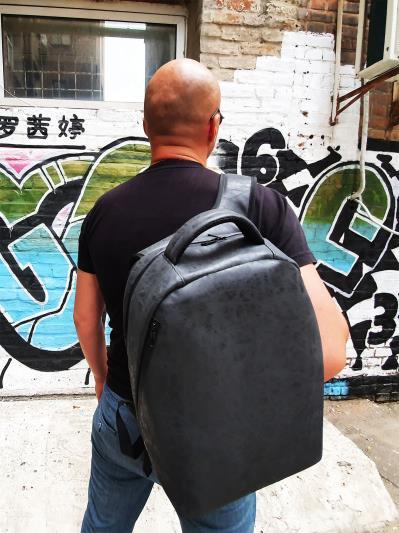 alba soboni. Рюкзак MAN-012-3 чорний. Вид 1.